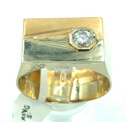14ct White/Rose Gold Solitaire Ring
