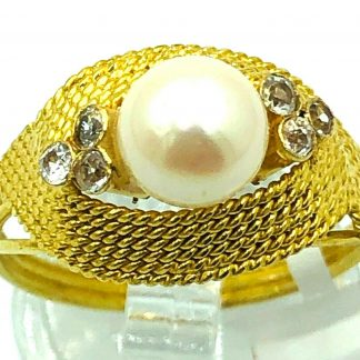 18ct Yellow Gold Freshwater Pearl Ring
