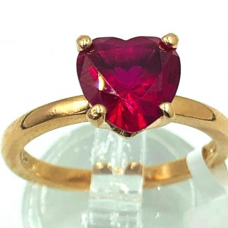 9ct Rose Gold Ruby Heart Ring