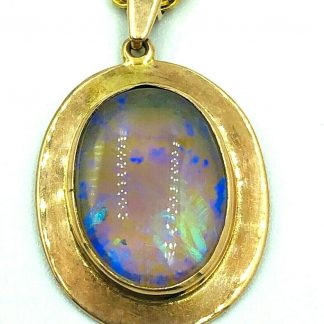 9ct Yellow & Rose Gold Opal Necklace