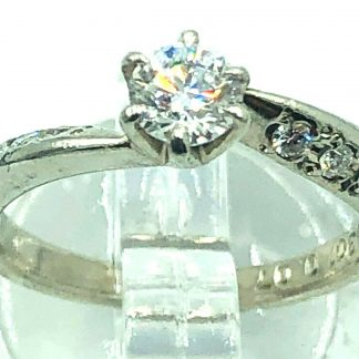 Platinum Diamond Ring with Valuation