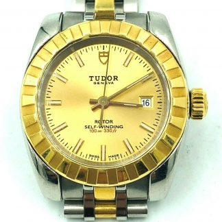 Lady Tudor 18ct Gold Princess Oyster Date Watch