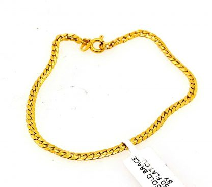 18ct Yellow Gold Flat Curb Link Bracelet