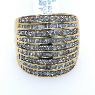 9ct Yellow Gold 135 Diamond Ring