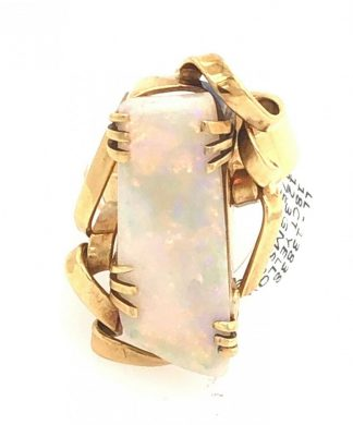 18ct Yellow Gold 6.00ct Opal Ring with Valuation