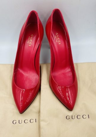 Gucci Patent Leather Coral Pumps