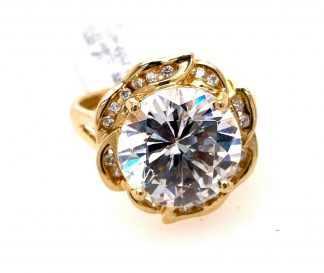 14ct Yellow Gold 20 Diamond Ring