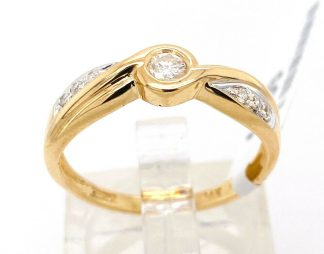 14ct Yellow Gold 7 Diamond Ring