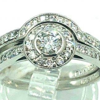 18ct White Gold Diamond 2 Ring Set With Valuation