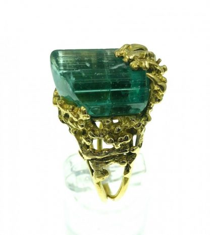 18ct Yellow Gold Tourmaline Designer Ring with Valuation