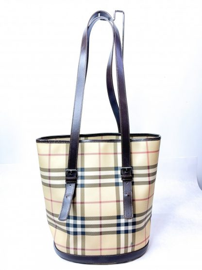 Burberry Nova Check Bucket Tote