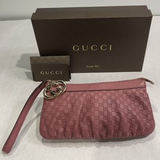 Gucci Guccissima Interlocking G Wristlet