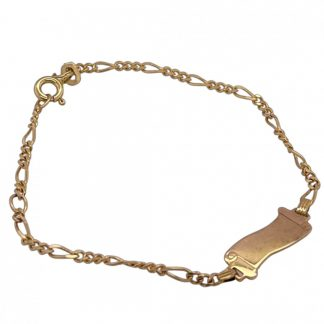9ct Yellow Gold ID Bracelet