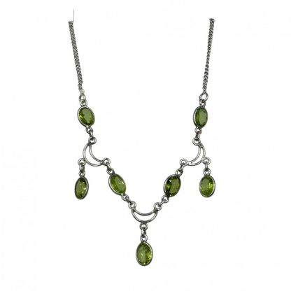 925 Sterling Silver Peridot Necklace