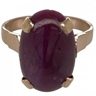 14ct Yellow Gold Ruby Ring
