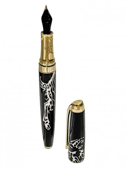 Caran d'Ache Year of the Goat 2015 Fountain Pen - 18ct Gold Nib - Limited Edition Gold Plated
