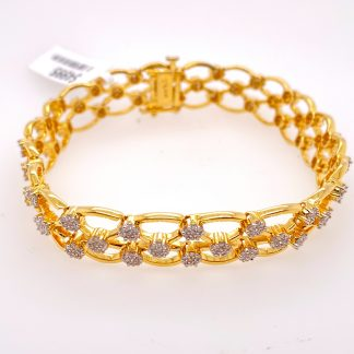 18ct Yellow Gold 420 Diamond Bracelet with Valuation
