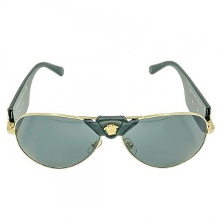 Versace Rock Icon Sunglasses - Leather Wrap Medusa