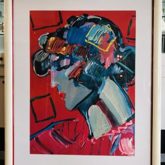 Peter Max 'Crimson Lady' Lithograpgh Limited Edition
