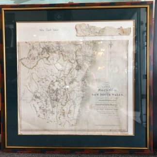 1837 Original Map of the Colony 'NSW' Framed