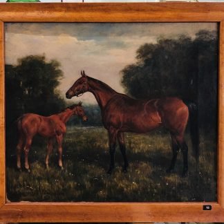 G.D Giles 'Spectre, Mare & Foul' Painting from 1907