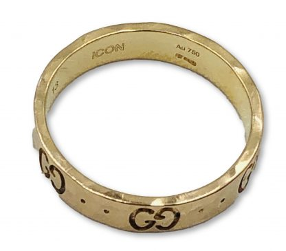 Gucci 18ct Rose Gold ICON Hammered Ring
