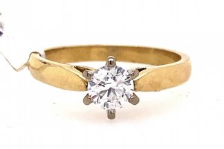 18ct Yellow and White Gold 0.25cts Diamond Solitaire ring