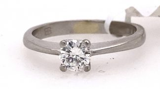 9ct White Gold 0.20cts Diamond Solitaire Ring with Valuation
