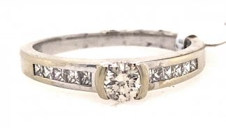 9ct White Gold 48 Diamond Ring with Valuation