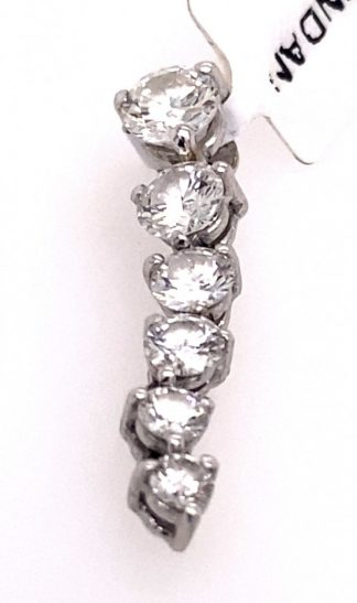 18ct White Gold 6 Diamond Pendant with Valuation