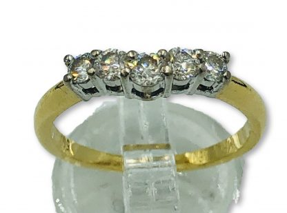 18ct Yellow Gold Diamond Bridal Ring Set with Valuation