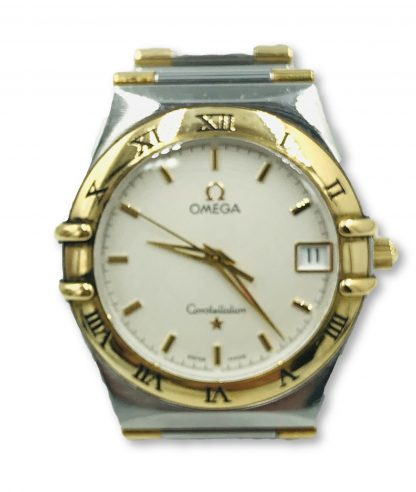 Omega Constellation 18K Gold Quartz Midsize Watch