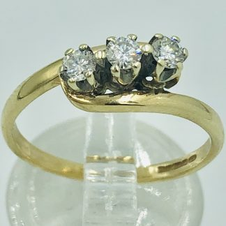 9ct Yellow Gold 7 Diamond Halo Ring