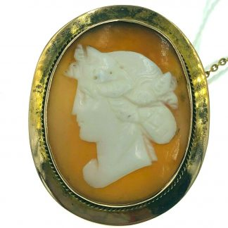 9ct Yellow Gold Cameo Brooch