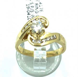18ct Yellow Gold 12 Diamond Ring