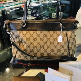 Gucci Mayfair Bow Detail Top Handle Bag