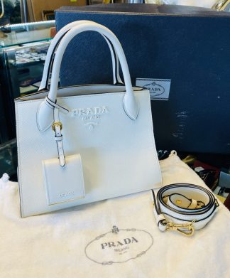 Prada Monochrome Saffiano Leather Handbag