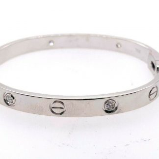 Cartier 18ct White Gold Diamond Love Bangle