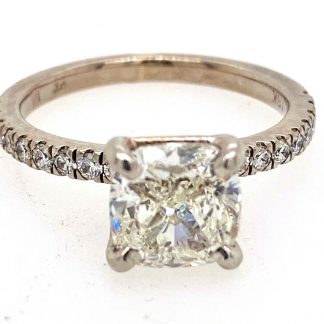 18ct White Gold 2.01cts Diamond Ring with Valuation
