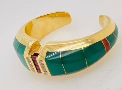 18ct Yellow Gold Designer Ring & Cuff Bangle Set with Valuation