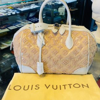 Louis Vuitton Limited Edition Bouclettes Speedy Round Handbag
