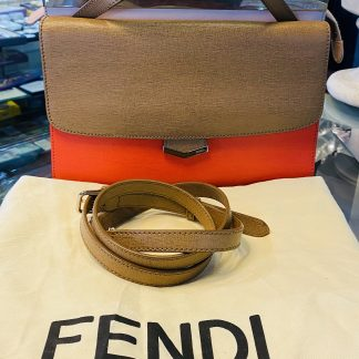 Fendi Demi Jour Tri Colour Leather Handbag
