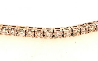 18ct White Gold Tennis Bracelet with Valuation