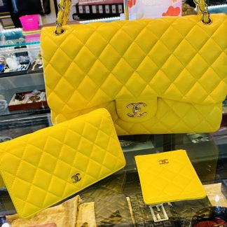 Chanel Jumbo Double Flap Quilted Handbag, Wallet & Card Holder