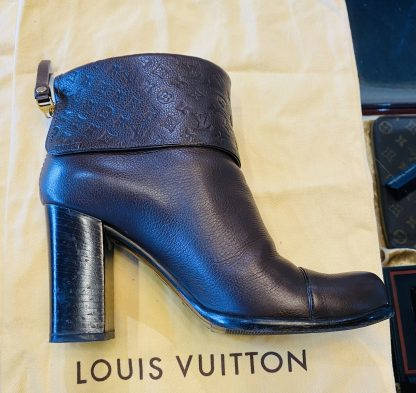 Louis Vuitton Brown Leather Ankle Boots