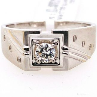 18ct White Gold Diamond Ring with Valuation