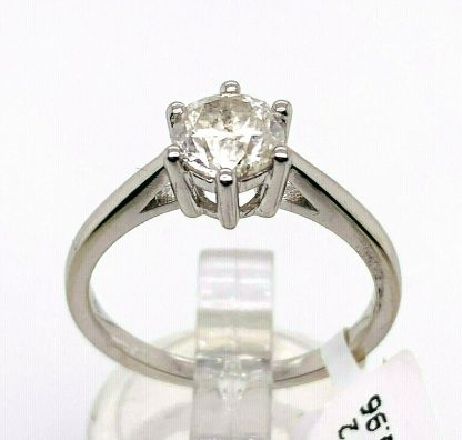 14ct White Gold Solitaire Ring with Valuation