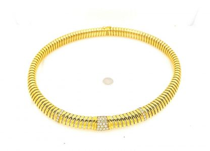 Cartier 18ct Yellow Gold 40 Diamond Collar Necklace