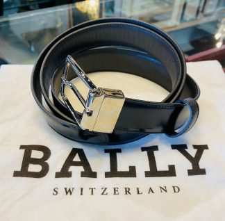 Bally Switzerland Men's Reversible Black & Brown Leather Belt