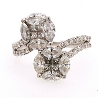 18ct White Gold 2.26cts Diamond Ring with Valuation